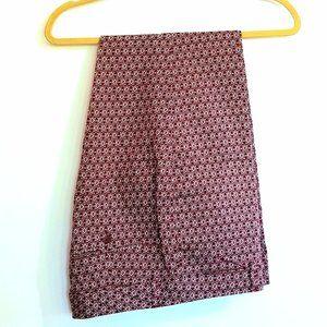 Women's Burgundy Cotton Slacks